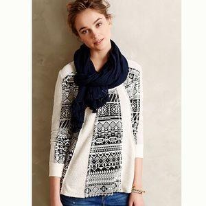 Anthropologie, Lilka, Geo Jacquard Swing Sweater